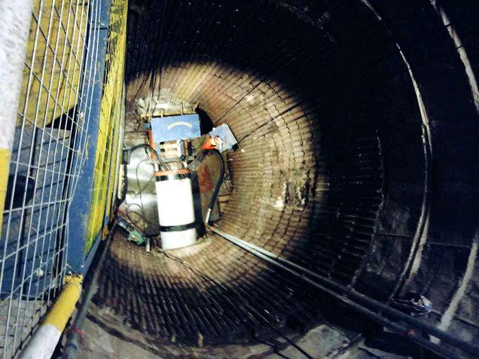 我市对破损排水管道进行非开挖修复